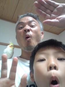 オヤジと息子と鳥 ほぉぁぁぁぁぁぁぁーーーー
