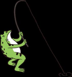 カエル釣り