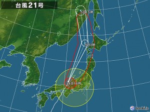tenki.jpさんから使わせていただきました tenki.jp/bousai/typhoon/1821/